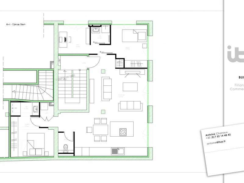 annecy T3-4 en cours de rénovation par équipe architecte et artisan vente immobilière