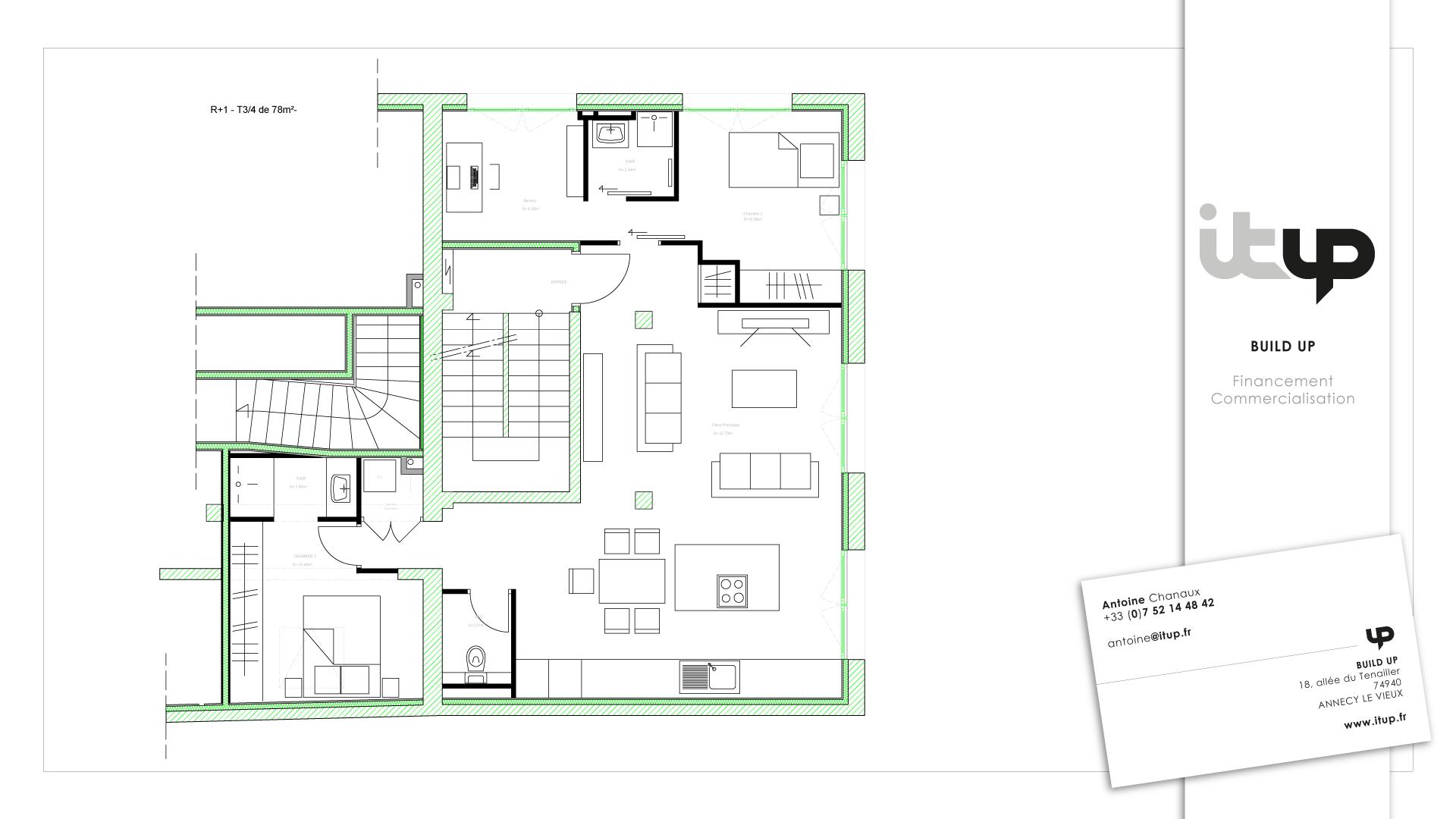 vente appartement annecy T3-4 en cours de rénovation
